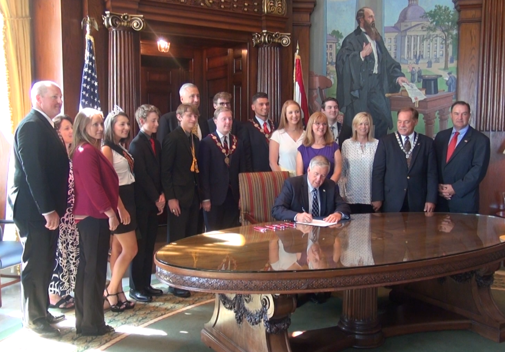 DeMolay Bill Signed Into Law